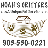 Noah's Critters Pet Sitting Service in Tyler, Texas logo